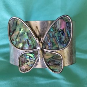 Unique Abalone Butterfly Cuff